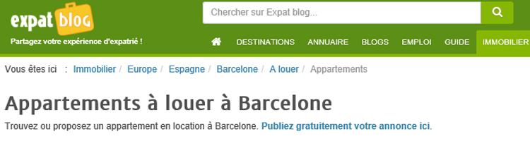 sites pour louer à des français en Espagne location d'appartements inov expat expatblog