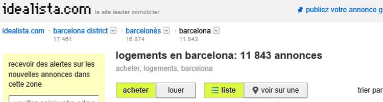 sites pour louer à des français en Espagne location d'appartements inov expat idealista