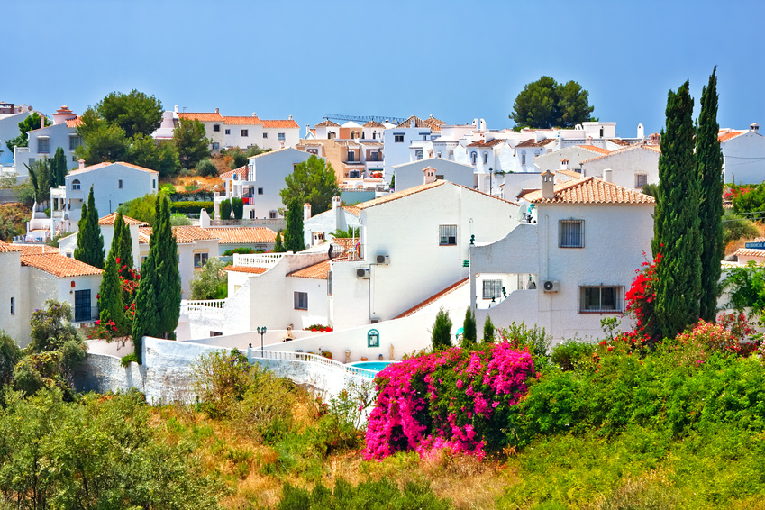 Spanish landscape in Nerja, Costa del Sol, Spain