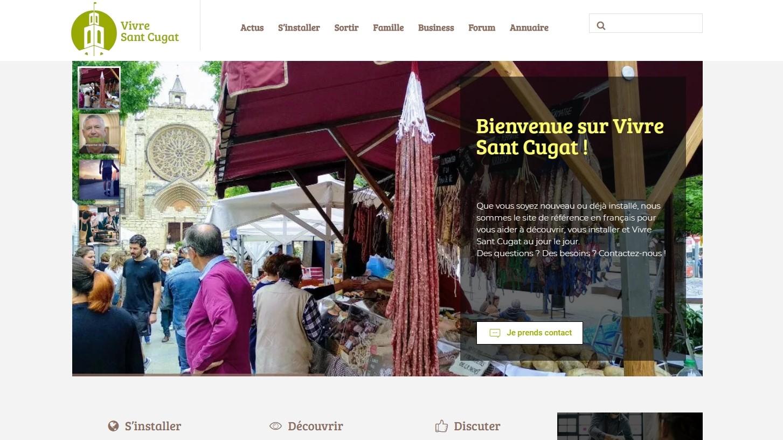 page accueil site web vivre sant cugat