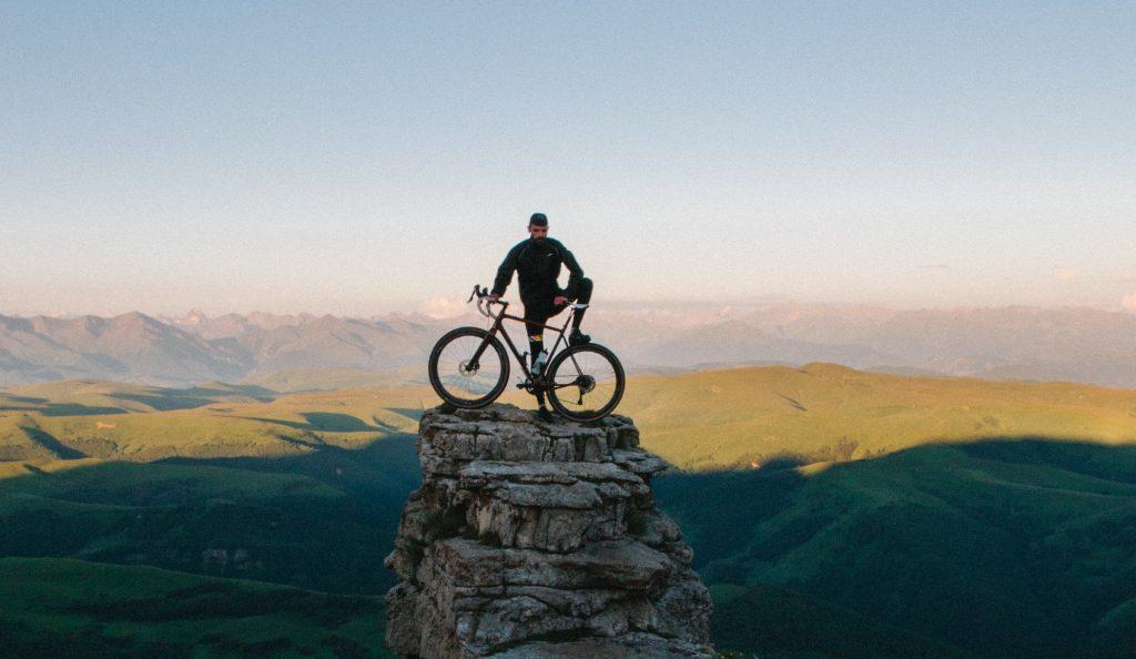 Vélo avec paysage