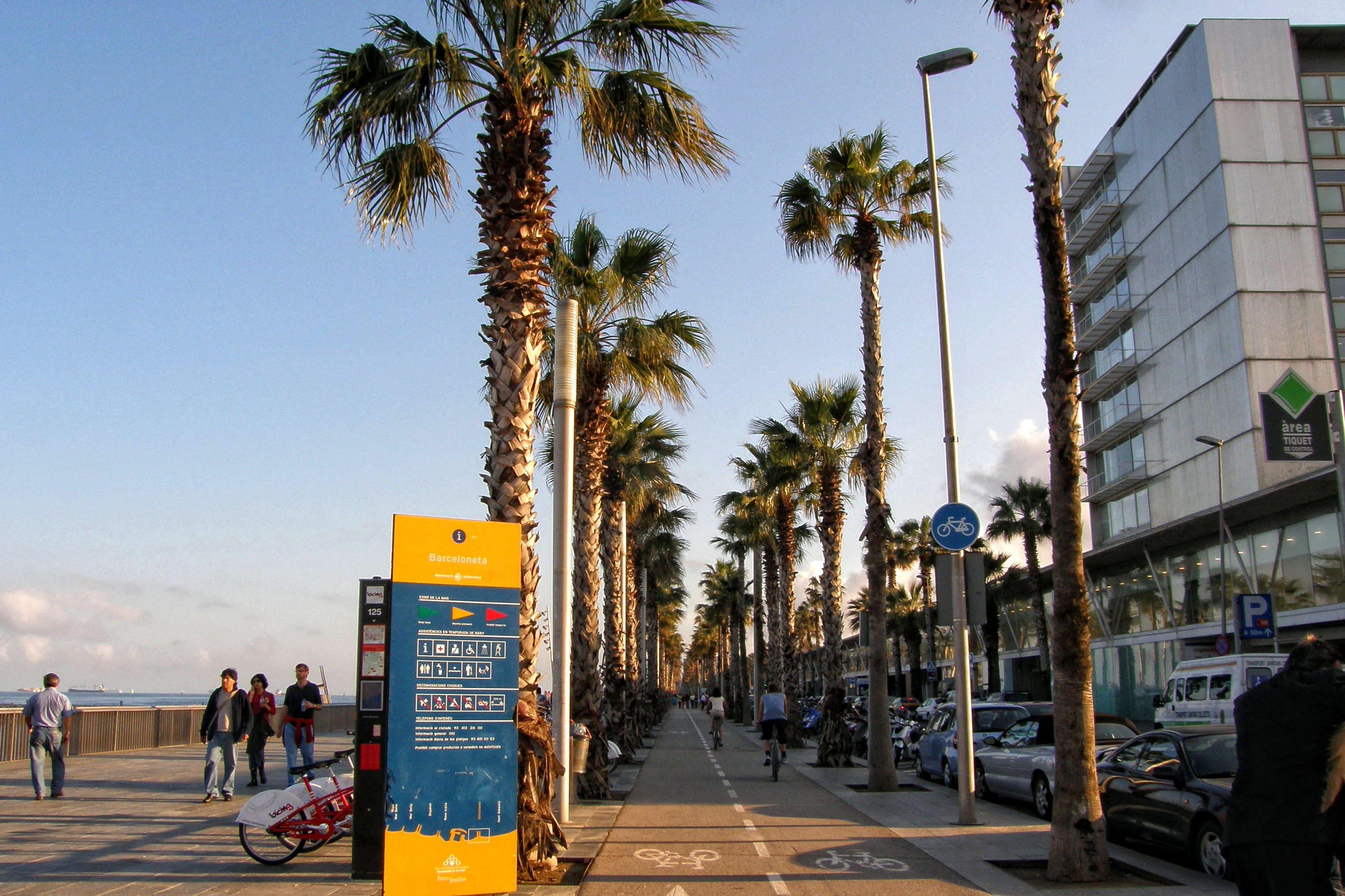 Barcelone à vélo : itinéraire plage