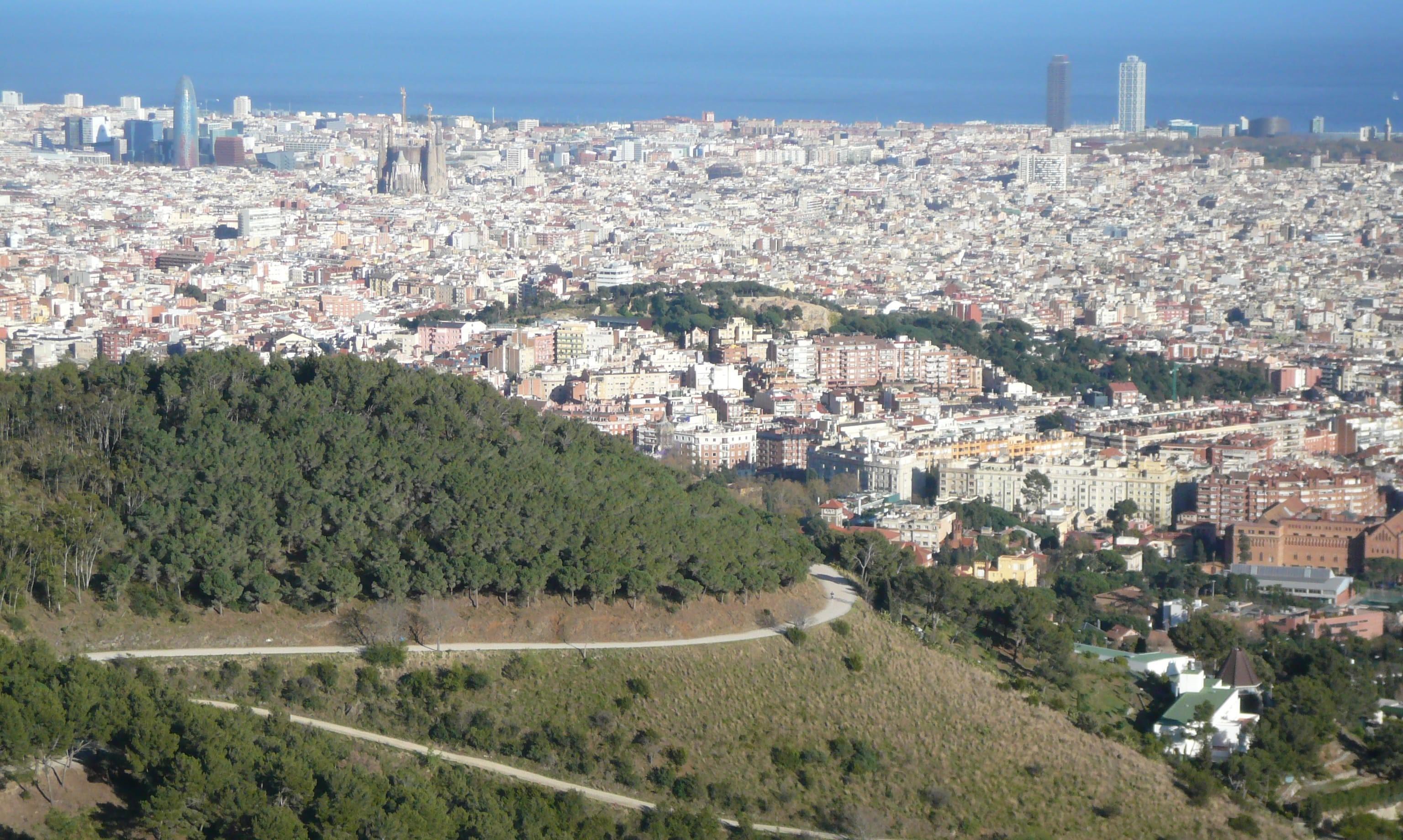 Barcelone à vélo : Carretera de les Aigües